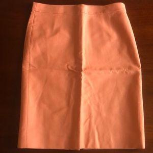 J. Crew Retail No. 2 Pencil Skirt Peach Sz 10